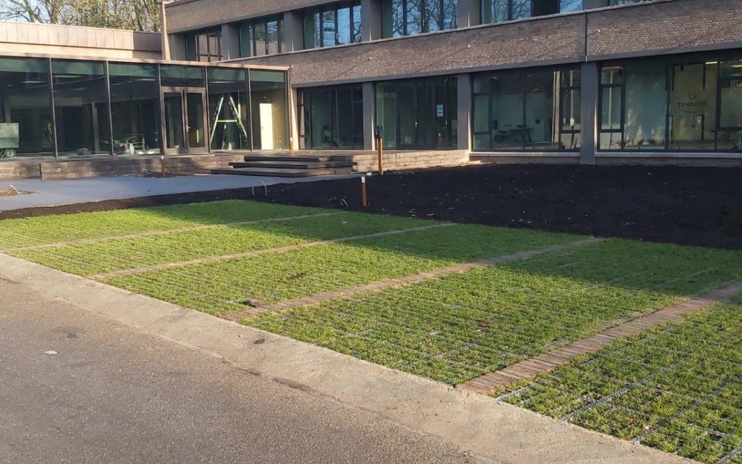 'Groene' parkeerplaatsen voor het Annapark!